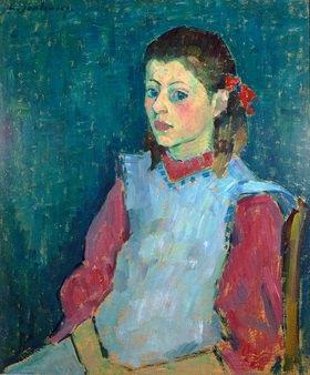 Alexej von Jawlensky: Mädchen mit weißer Schürze