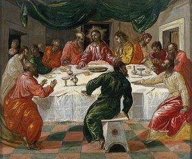 Greco El (Dominikos Theotokopoulos): Das letzte Abendmahl