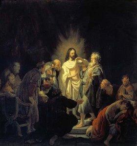 Rembrandt van Rijn: Christus und der ungläubige Thomas