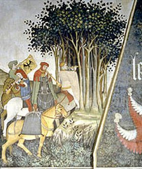 Giacomo Jaquerio: Detail aus der Rückkehr vom Jungbrunnen