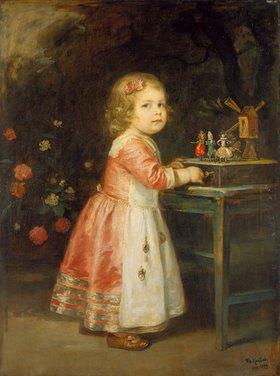 Friedrich August von Kaulbach: Das Spielzeug