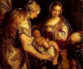 Paolo (Paolo Caliari) Veronese: Die hl.Familie mit der hl.Anna und dem Johannesknaben