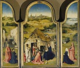 Hieronymus Bosch: Epiphanie-Triptychon (geöffnet)