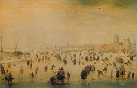 Hendrick Avercamp: Winterszene mit Eisläufern. 1620er Jahre