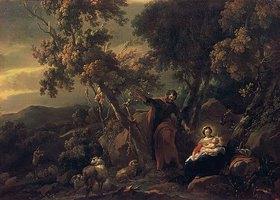 Nicolaes Berchem: Rast auf der Flucht nach Ägypten