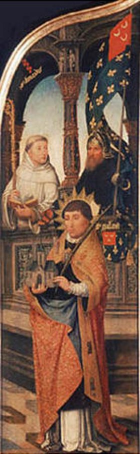 Jean Bellegambe: Die Verkündigung Maria; linke Tafel des Triptychons