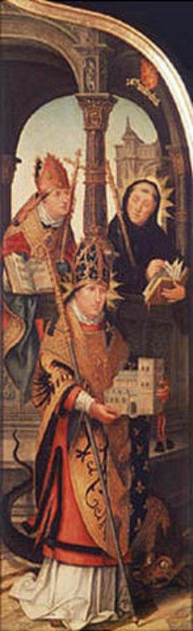Jean Bellegambe: Die Verkündigung Mariae, rechte Tafel des Triptychons