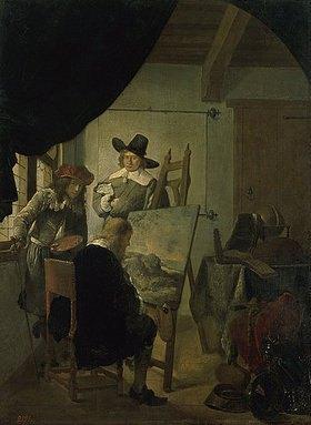 Job Adriaensz Berckheyde: Besuch im Atelier des Künstlers