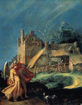 Abraham Bloemaert: Landschaft mit Tobias und dem Engel