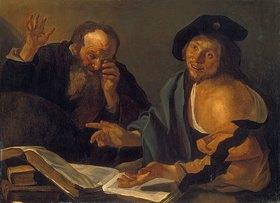 Dirck van Baburen: Heraklit und Demokrit