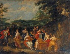 Hendrick van Balen: Palllas Athene und die Musen. 1630er Jahre
