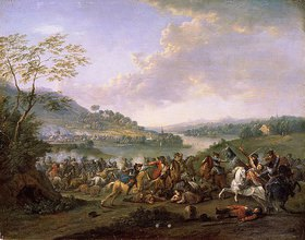 Karel Breydel: Schlacht an einem Fluss