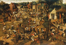 Pieter Brueghel d.J.: Kirchweihfest mit Theaterbühne