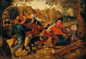 Pieter Brueghel d.J.: Raufende Kartenspieler