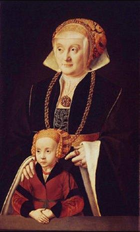 Bartholomäus Bruyn d.Ä.: Bildnis einer Dame mit ihrer Tochter