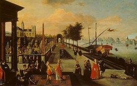 Louis de Caulery: Spaziergang auf einer Uferpromenade