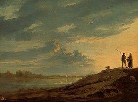 Aelbert Cuyp: Sonnenuntergang über einem Fluss