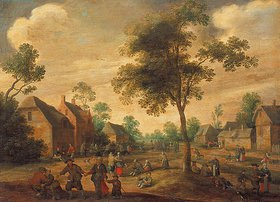 Joost Cornelisz Droochsloot: Fest in einem Dorf