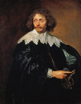 Anthonis van Dyck: Bildnis von Sir Thomas Chaloner (1595-1661) mit Spitzenkragen. 1630er Jahre