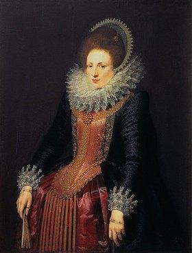 Flämisch: Bildnis einer Dame mit Fächer