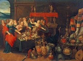 Frans Francken II.: Die Entdeckung des Achilles unter den Töchtern des Lykomedes. 1620er Jahre