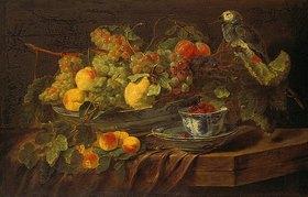 Jan Fyt: Früchte-Stillleben mit Papagei
