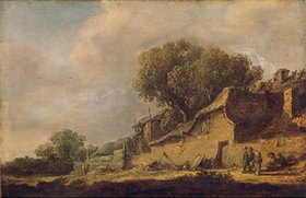 Jan van Goyen: Landschaft mit Bauernhaus