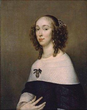 Adriaen Hannemann: Bildnis einer Dame mit lockigem Haar