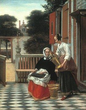 Pieter de Hooch: Dame mit Dienstmagd