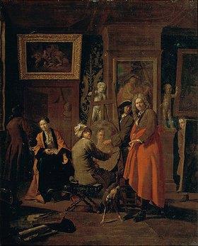 Jan Josef Horemans I.: Im Maleratelier
