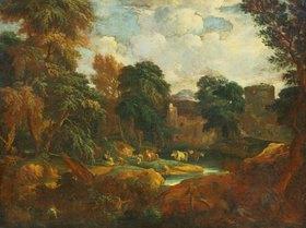 Cornelis Huysmans: Flandrische Landschaft mit Kuhherde