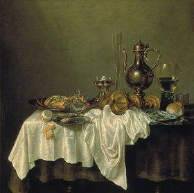 Willem Claesz Heda: Frühstücks-Stillleben mit Krabbe