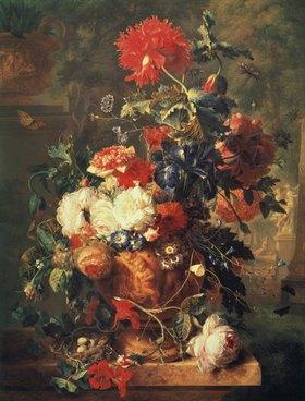 Jan van Huysum: Großes Blumenstillleben