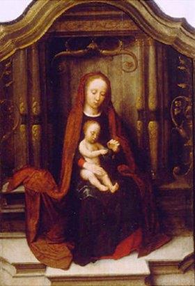 Adriaen Isenbrant: Maria mit dem Kind auf dem Thron