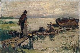 Joseph Israels: Am See-Ufer