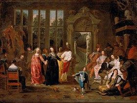 Hieronymus Janssens: Ballszene. 1650er Jahre