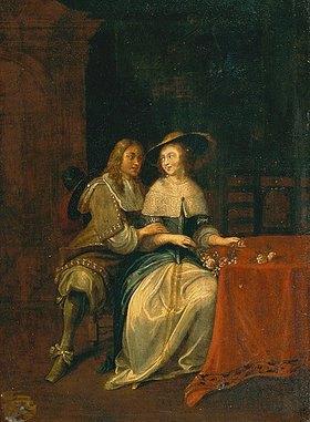 Hieronymus Janssens: Liebespaar. 1650er Jahre