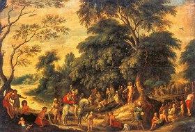 Alexander Keirincx: Johannes der Täufer, predigend