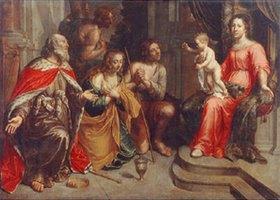 Peeter van Lint: Vier Sünder vor der Madonna