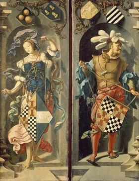 """Lucas van Leyden: Seitentafeln des Triptychons """"Die Heilung des Blinden in Jericho"""""""