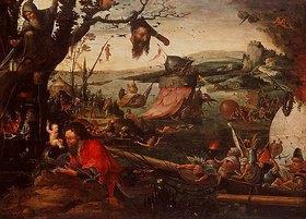 Jan Mandyn: Landschaft mit der Parabel vom Hl. Christophorus