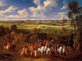 Adam Frans van der Meulen: Königliche Ausfahrt