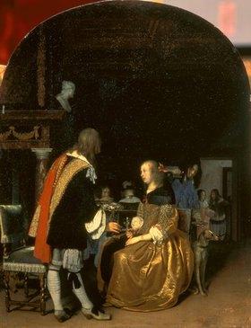 Frans van Mieris d.Ä.: Unterhaltung beim Austernessen