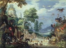 Roelant Jakobsz Savery: Landschaft mit Vögeln