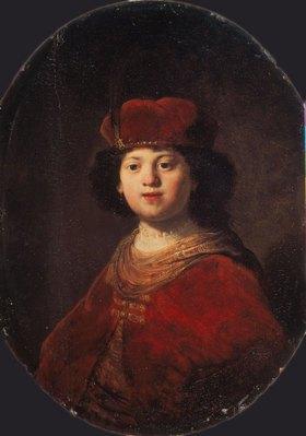 Rembrandt van Rijn: Bildnis eines Jungen in rotem Kostüm