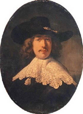 Rembrandt van Rijn: Bildnis eines jungen Mannes mit Spitzenkragen