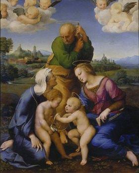 Raffael (Raffaello Sanzio): Die heilige Familie aus dem Hause Canigiani