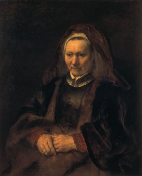 Rembrandt van Rijn: Bildnis einer älteren Fr