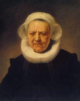 Rembrandt van Rijn: Bildnis einer Frau mit weißer Haube