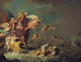 Theodorus de Roode: Allegorie auf den Sieg von Chesmen